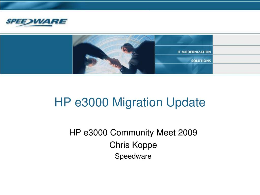 hp e3000 migration update l.