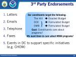 3 rd party endorsements18