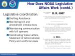 how does noaa legislative affairs work contd