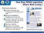 how does noaa legislative affairs work contd13