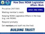 how does noaa legislative affairs work