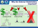 why are external stakeholders important