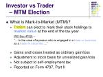 investor vs trader mtm election