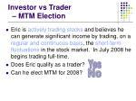 investor vs trader mtm election30