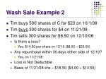 wash sale example 2