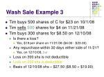 wash sale example 3
