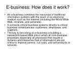 e business how does it work