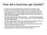 how did e business get started