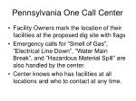 pennsylvania one call center
