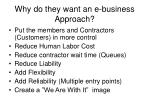 why do they want an e business approach