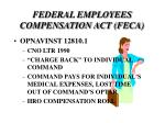 federal employees compensation act feca