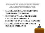 managers and supervisors are responsible for