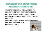 managers and supervisors are responsible for15