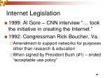 internet legislation