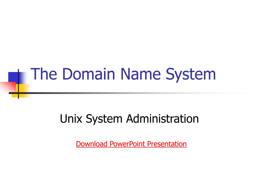 the domain name system l.