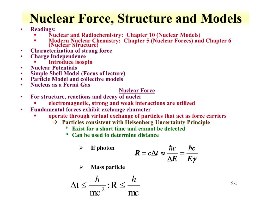 nuclear force structure and models l.