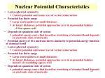 nuclear potential characteristics8
