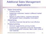 additional sales management applications