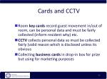 cards and cctv