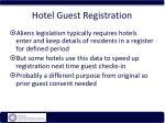 hotel guest registration