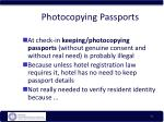 photocopying passports