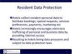 resident data protection