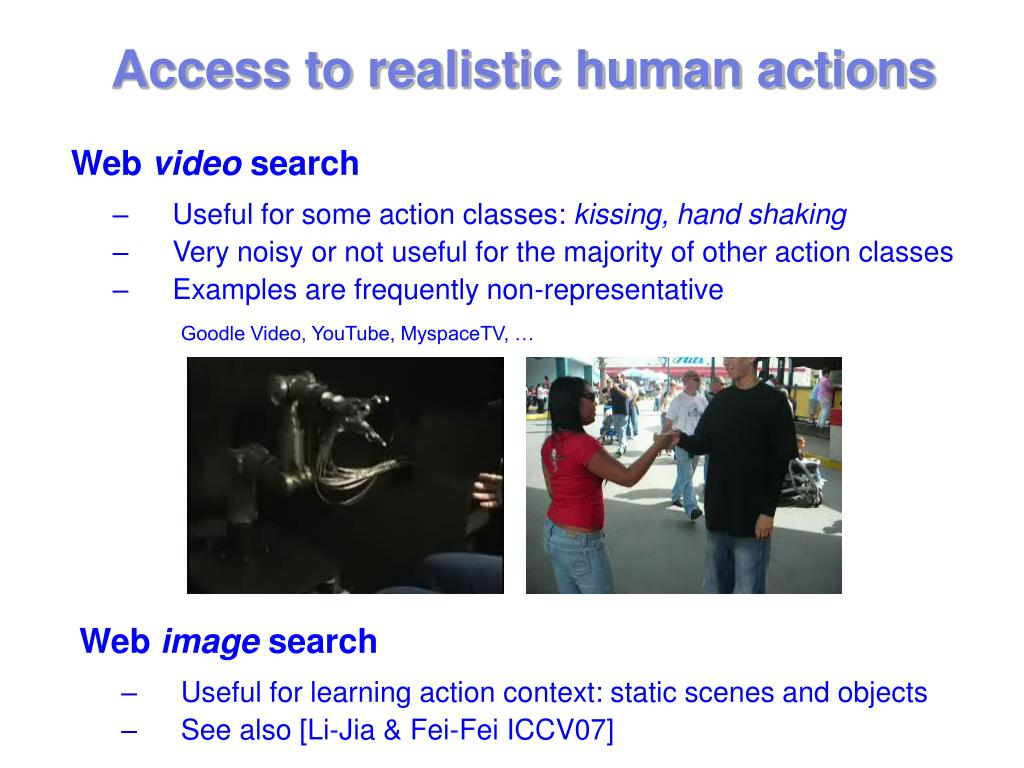 Access to realistic human actions