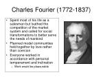 charles fourier 1772 1837