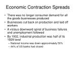 economic contraction spreads