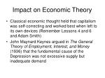 impact on economic theory