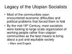 legacy of the utopian socialists