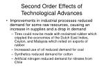 second order effects of technological advances
