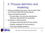 2 process definition and modeling