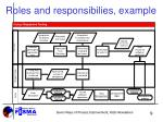 roles and responsibilies example