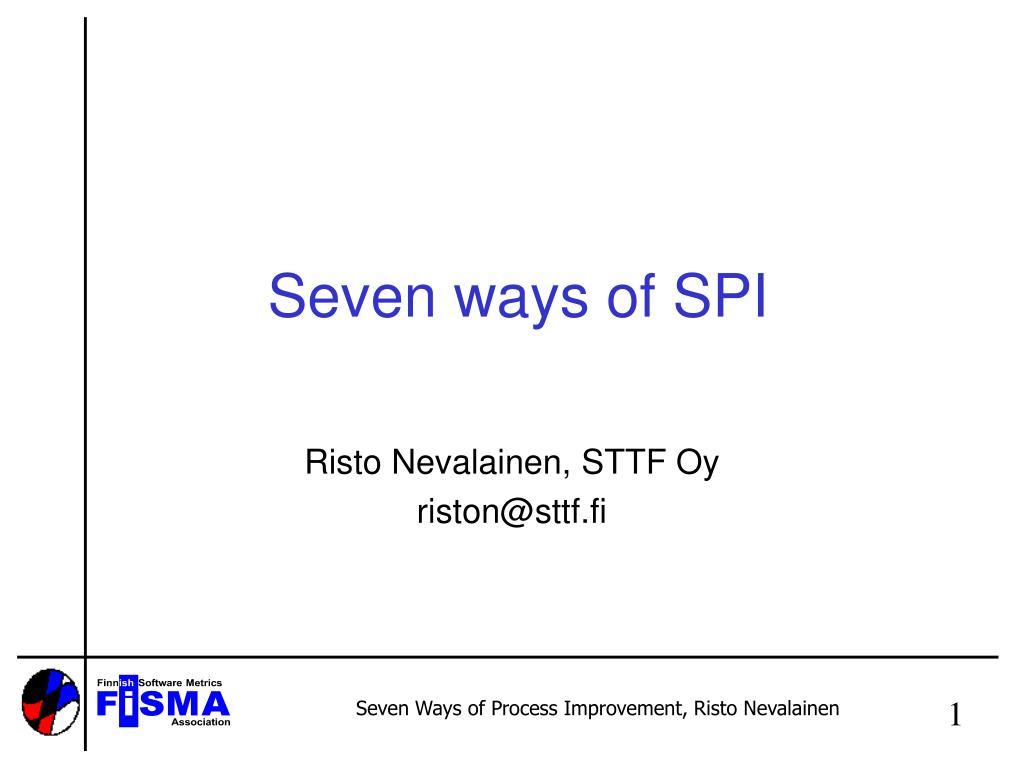 seven ways of spi l.