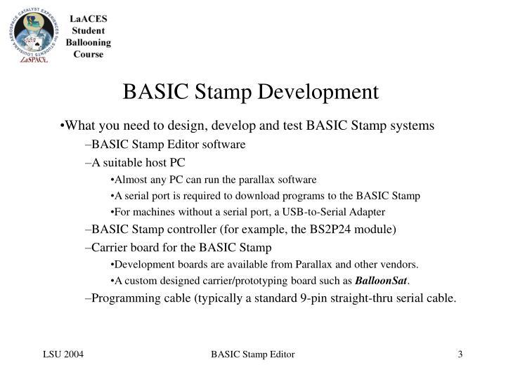Basic stamp development