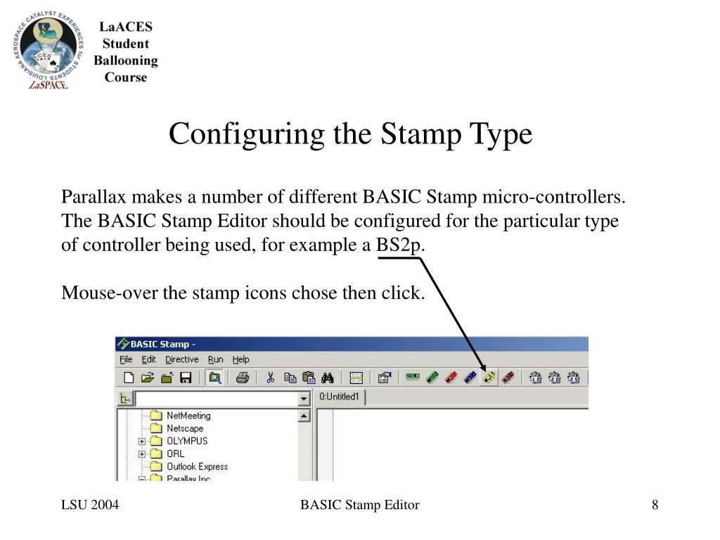 Configuring the Stamp Type