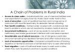 a chain of problems in rural india