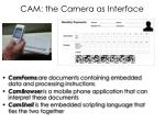 cam the camera as interface