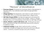 flavours of microfinance