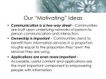our motivating ideas