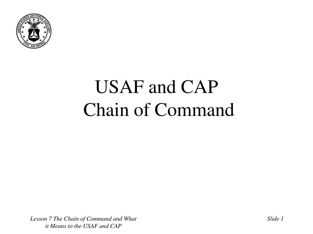 usaf and cap chain of command l.