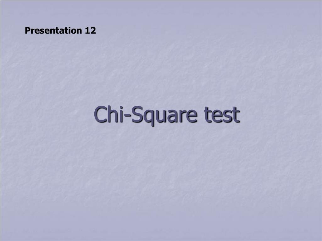 chi square test l.
