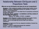 relationship between chi square and 2 proportions tests