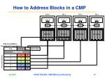 how to address blocks in a cmp18