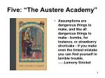 five the austere academy