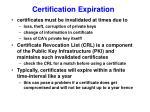 certification expiration