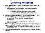 certifying authorities