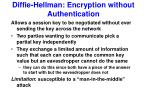 diffie hellman encryption without authentication