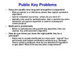 public key problems